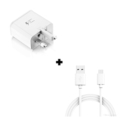 Picture of Genuine Samsung Galaxy A10 Fast Charger Plug & 1M Micro USB Data Cable