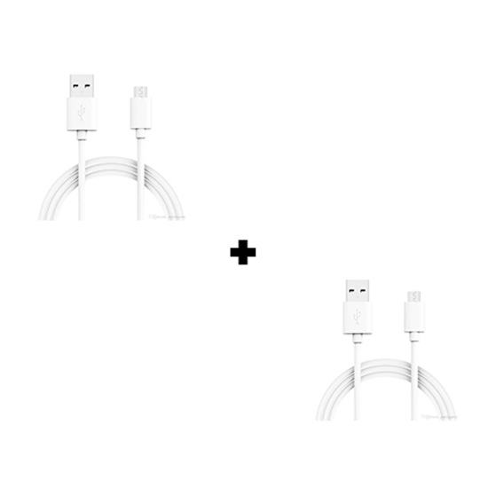 Picture of Pack Of 2 Genuine Samsung Galaxy A10 Fast Charging 1M Micro USB Cable