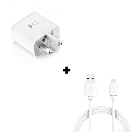 Picture of Genuine Samsung Galaxy J4 Plus Fast Charger Plug & 1M Micro USB Data Cable