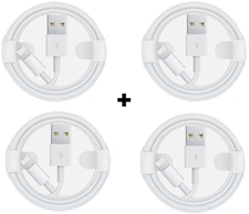 Picture of Pack Of 4 Apple iPhone  XS, X,8,8+,7,6,5 Fast USB Lightning Cable