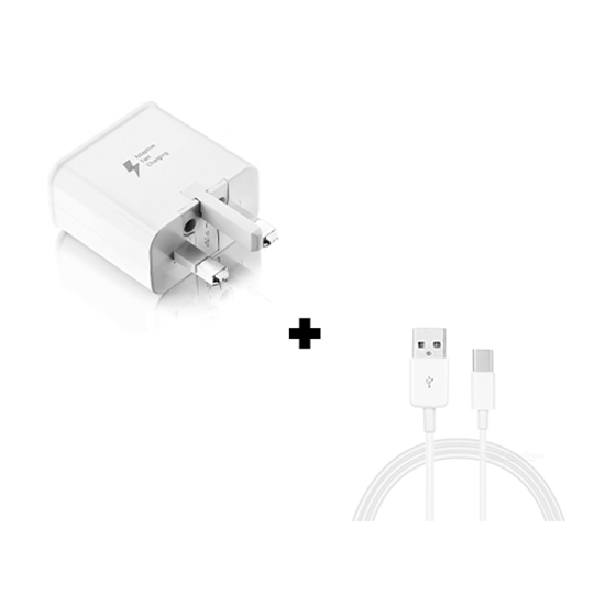 Picture of Genuine Samsung Fast Charger Plug & C-Type USB Cable White