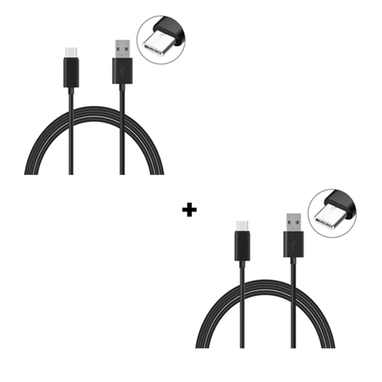 Picture of Pack Of 2 Genuine Samsung Galaxy Fast Charging C-Type USB Cable