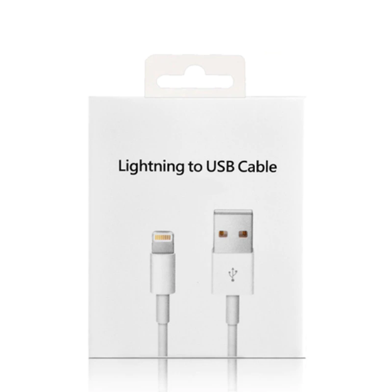 Picture of Apple iPhone Charger Lead 1 Meters USB Data Sync Lightning Charging Cable for iPhone XS, X, 8, 8+, 7, 7+, 6s, 6sPlus, 6, 5s, 5