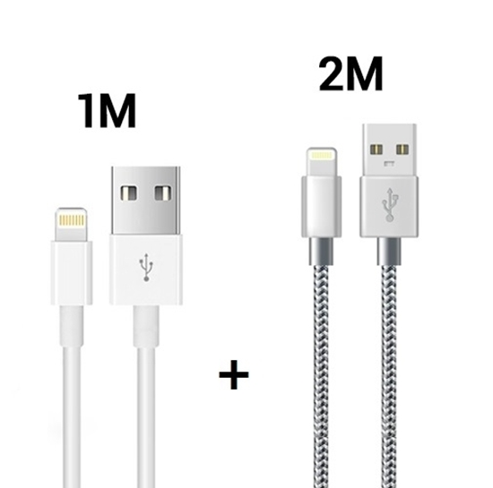 Picture of iPhone Lightning Cable 1M and Alfa 2M iPhone Fast iPhone Charging Cable for iPhone XR XS X 10 8 7 6s 6 Plus