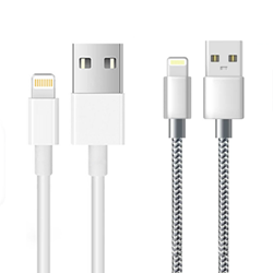 Picture of iPhone Charger Cable Alfa Lightning Cable White and Silver 1-2-3M