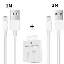 Picture of iPhone Charger Cable Lightning Cable White 1M & 3M [Pack of 2]