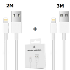 Picture of iPhone Charger Cable Lightning Cable White 2M & 3M [Pack of 2]