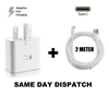 Picture of Genuine Samsung Fast Charger Plug& 2M Type-C USB Data Cable For Galaxy Phone Lot