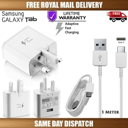 "Picture of Genuine Samsung Fast Charger Plug & USB Cable For Galaxy ""TAB"" Series Tablet Lot"
