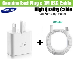 Picture of Genuine Samsung Fast Charging Plug & USB-C Charger Cable For Galaxy Phones Lot