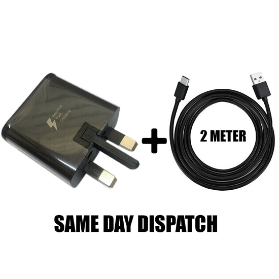 Picture of Genuine Samsung Fast Charger Plug &1M USB-C Cable For Galaxy A50 A60 A70 A80 Lot