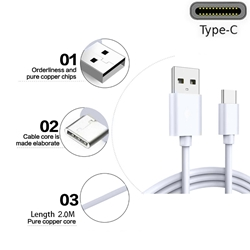Picture of Samsung Type C Fast USB-C Charger Charging Cable Lead For Galaxy A3 A5 & A7 2017