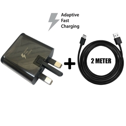 Picture of Genuine Samsung Fast Charger Plug & 2M USB-C Cable For Galaxy A70s 2019 Lot