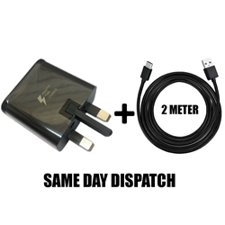 "Picture of Genuine Samsung Fast Charger Plug & 2M Cable For Galaxy Tab A A6 10.1"" 2016 Lot"