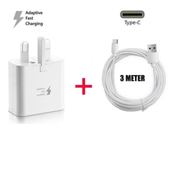 Picture of Genuine Samsung Fast Charger Adapter & 3M USB-C Cable For Galaxy A51 A71  5G