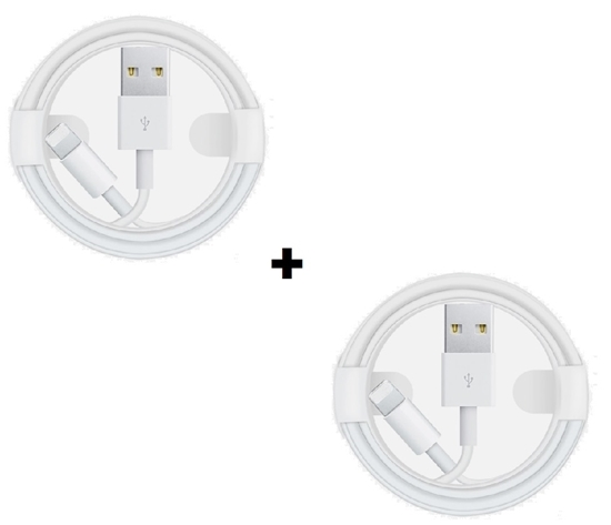 Picture of Apple iPhone 1 x 1M Charging Cable & 1 x 1M Lightning Cable