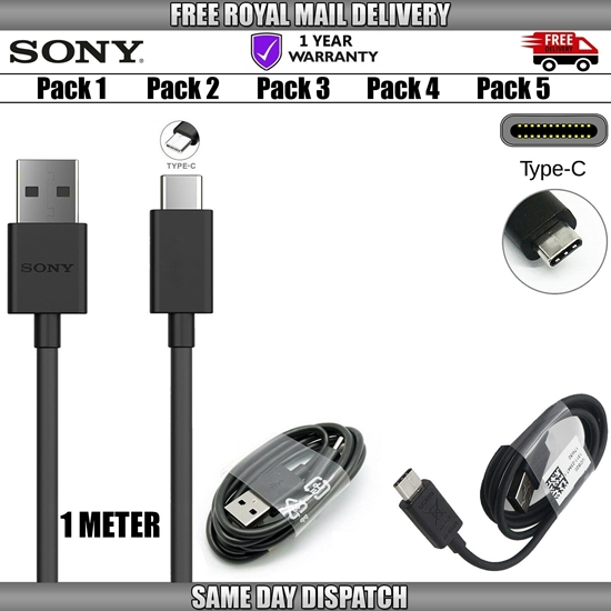 Picture of Genuine Sony UCB20 USB Type-C Data Charger Cable Charging Lead For Phones Lot UK