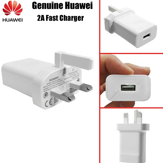 Picture of Genuine Huawei Super Charge Fast Mains Charger Adapter Plug For P30 P20 Pro Lite