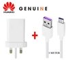 Picture of Genuine Huawei Mate 20 30 Pro X Super Charge Fast Mains Charger Plug & USB-C Cable