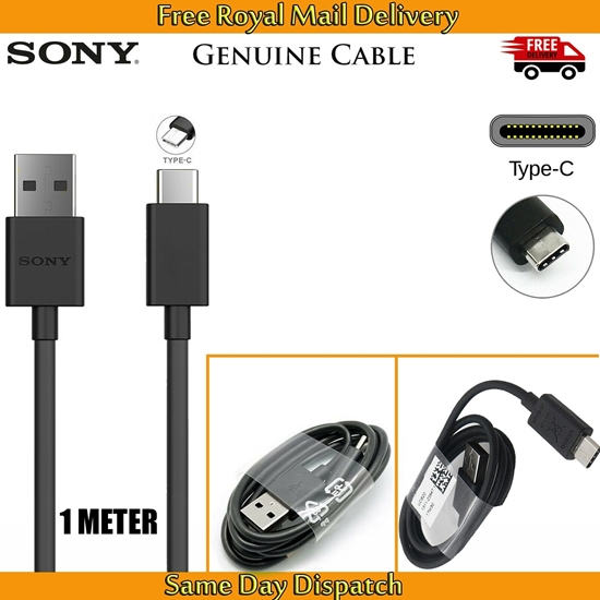 Picture of Genuine Sony USB-C TYPE-C Fast Data Charger Cable Sync Lead For Xperia Phones UK