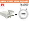Picture of Genuine USB 2A Fast Charger Plug & 3M Extra Long Cable For Huawei P Smart 2019
