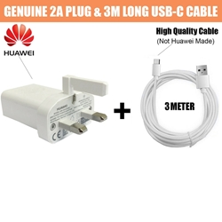 Picture of Genuine Huawei 2A Fast Charger Plug & 3M USB Type-C Cable