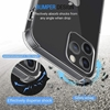 Picture of Clear Case For iPhone 11 pro, 12 Pro, 7 plus, 8 Plus with Glass Screen Protector