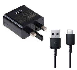 Picture of Official Samsung 15W Plug Fast Charging Adapter With USB Type C Cable For Samsung Galaxy