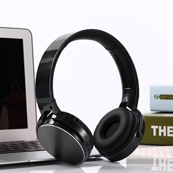 Picture of SH 22 Folding Bluetooth V4.0 Wireless Headset Stereo Over Gaming Earphones   Black