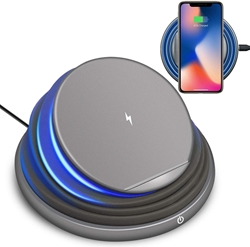 Picture of Foldable Wireless Charging Stand   With Color Changing LED Light - Gray