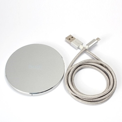 Picture of 10W Fast Wireless Charging Pad For Samsung Galaxy Silver