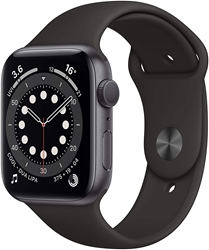 Picture of Apple Watch Series 6 GPS, 44mm Space Grey Aluminium Case with Black Sport Band